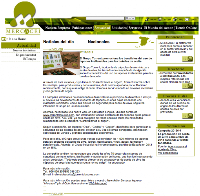 revista Mercacei | Grupo Torrent