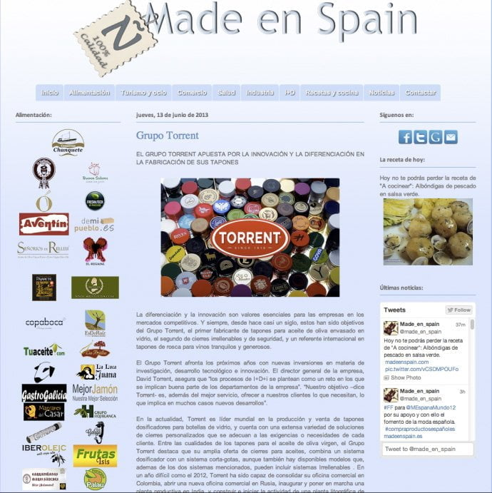 madeenspain | grupo Torrent
