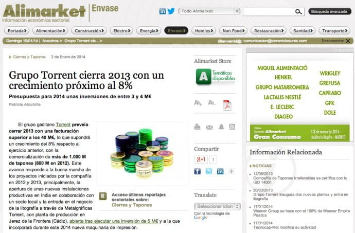 Alimarket | grupo Torrent