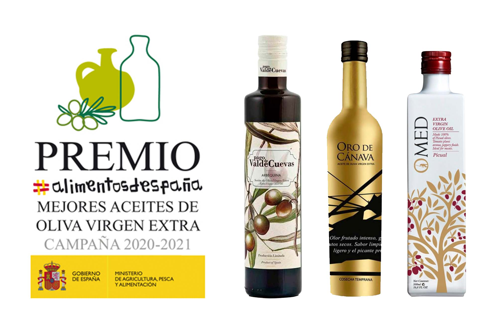 Les trois meilleures huiles d'olive extra vierge d'Espagne | Fermetures de torrents
